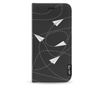 Paperplanes - Wallet Case Black Samsung Galaxy J3 (2017)
