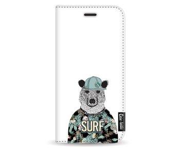 Surf Bear - Wallet Case White Samsung Galaxy J3 (2017)