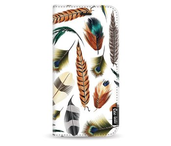 Feathers Multi - Wallet Case White Samsung Galaxy J3 (2017)