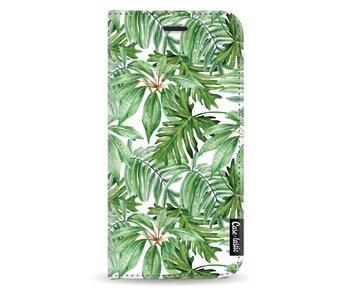 Transparent Leaves - Wallet Case White Samsung Galaxy J3 (2017)