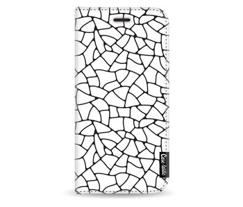 Transparent Mosaic - Wallet Case White Samsung Galaxy J3 (2017)