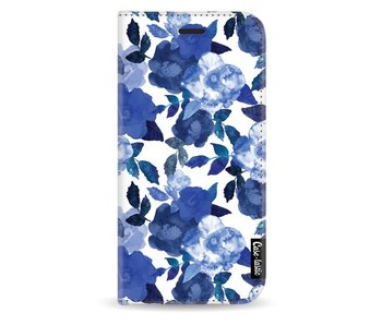 Royal Flowers - Wallet Case White Samsung Galaxy J3 (2017)