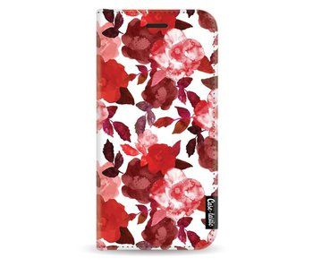 Royal Flowers Red - Wallet Case White Samsung Galaxy J3 (2017)