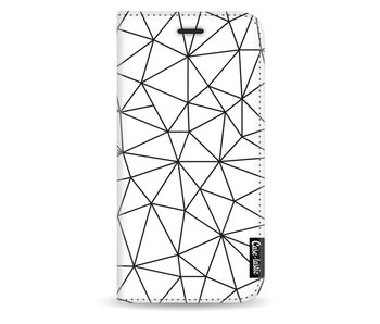 So Many Lines! Black - Wallet Case White Samsung Galaxy J3 (2017)