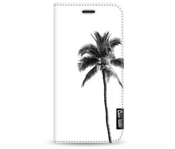 Palm Tree Transparent - Wallet Case White Samsung Galaxy A3 (2017)