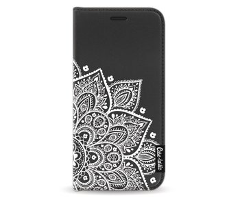 Floral Mandala White - Wallet Case Black Samsung Galaxy A3 (2017)