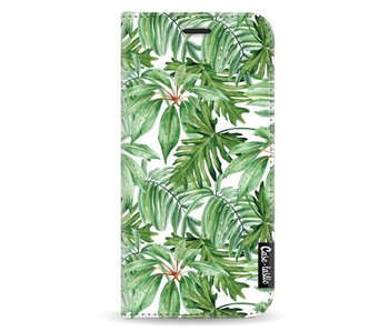 Transparent Leaves - Wallet Case White Samsung Galaxy A3 (2017)