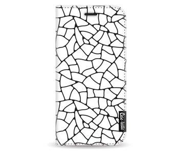 Transparent Mosaic - Wallet Case White Samsung Galaxy A3 (2017)