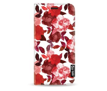 Royal Flowers Red - Wallet Case White Samsung Galaxy A3 (2017)