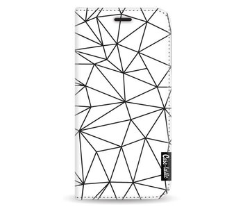 So Many Lines! Black - Wallet Case White Samsung Galaxy A3 (2017)