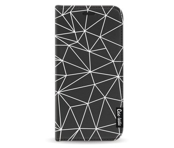 So Many Lines! White - Wallet Case Black Samsung Galaxy A3 (2017)
