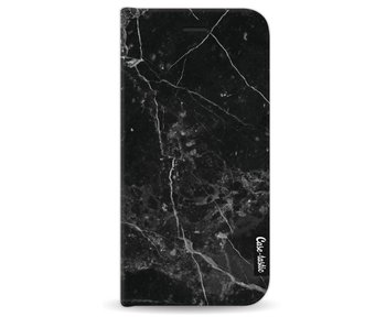Black Marble - Wallet Case Black Apple iPhone 8
