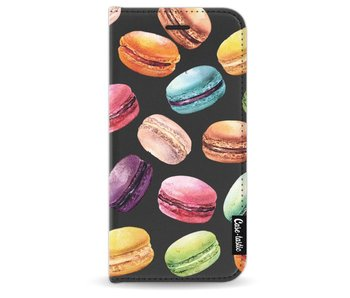 Macaron Mania - Wallet Case Black Apple iPhone 8