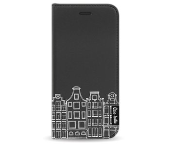 Amsterdam Canal Houses White - Wallet Case Black Apple iPhone 8
