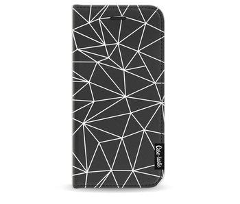 So Many Lines! White - Wallet Case Black Apple iPhone 8