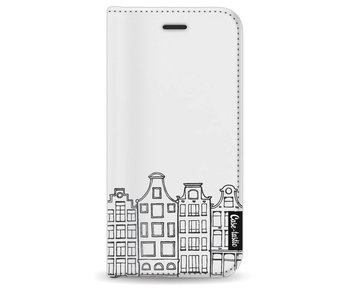 Amsterdam Canal Houses - Wallet Case White Apple iPhone 8