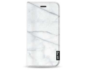 White Marble - Wallet Case White Apple iPhone 8