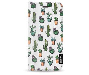 Cactus Dream - Wallet Case White Apple iPhone 8