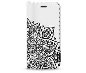 Floral Mandala - Wallet Case White Apple iPhone 8