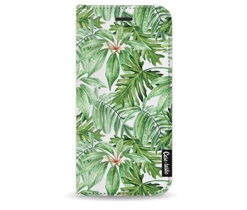 Transparent Leaves - Wallet Case White Apple iPhone 8