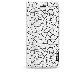 Transparent Mosaic - Wallet Case White Apple iPhone 8