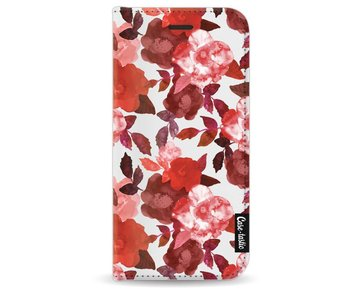 Royal Flowers Red - Wallet Case White Apple iPhone 8