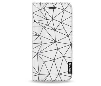 So Many Lines! Black - Wallet Case White Apple iPhone 8