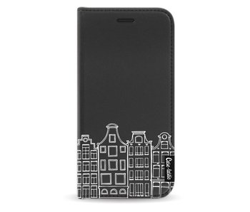Amsterdam Canal Houses White - Wallet Case Black Apple iPhone X
