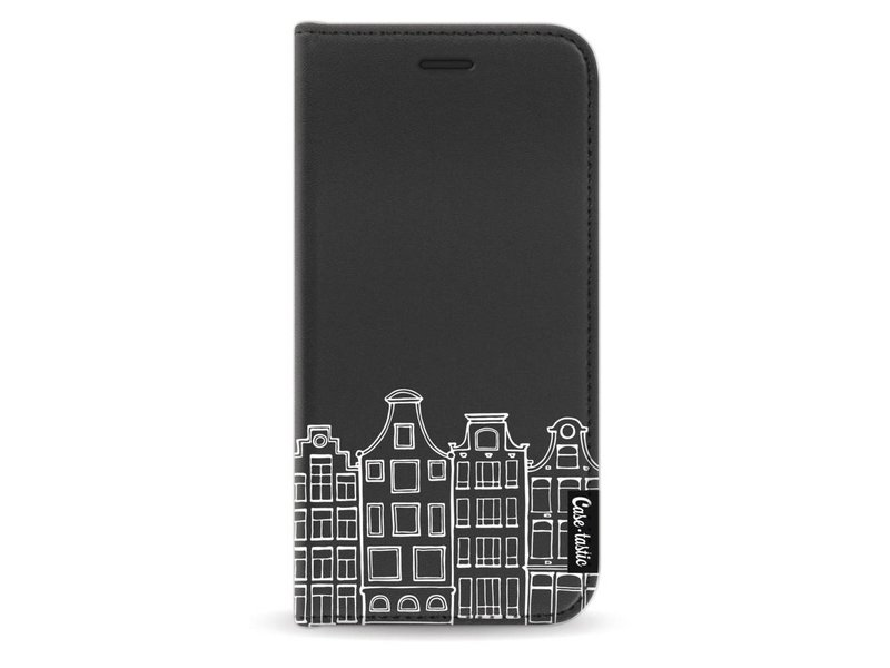 Casetastic Wallet Case Black Apple iPhone X - Amsterdam Canal Houses White