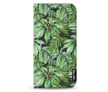 Transparent Leaves - Wallet Case Black Apple iPhone X