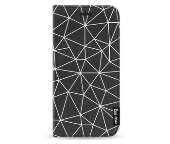 So Many Lines! White - Wallet Case Black Apple iPhone X