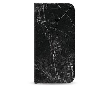 Black Marble - Wallet Case Black Apple iPhone X