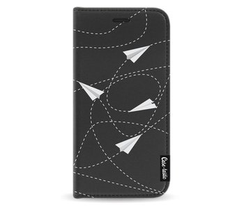 Paperplanes - Wallet Case Black Apple iPhone X