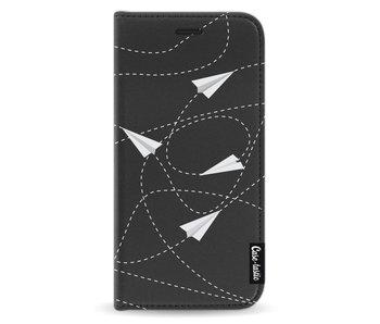 Paperplanes - Wallet Case Black Apple iPhone X