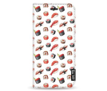 All The Sushi - Wallet Case White Apple iPhone X