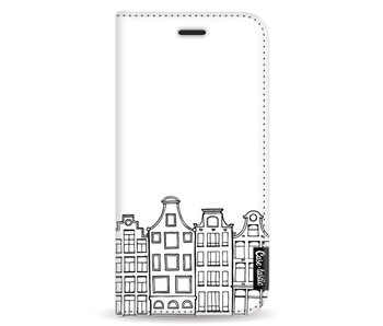 Amsterdam Canal Houses - Wallet Case White Apple iPhone X