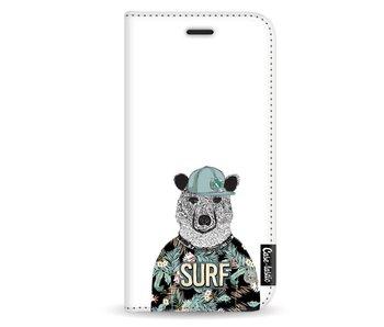 Surf Bear - Wallet Case White Apple iPhone X