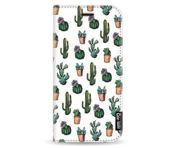 Cactus Dream - Wallet Case White Apple iPhone X