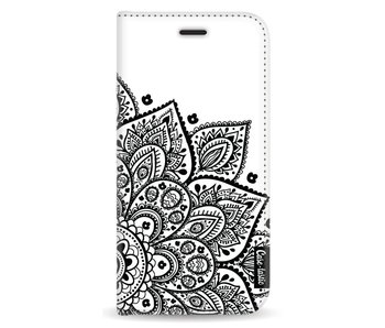 Floral Mandala - Wallet Case White Apple iPhone X