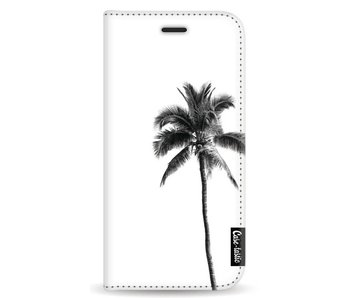 Palm Tree Transparent - Wallet Case White Apple iPhone X