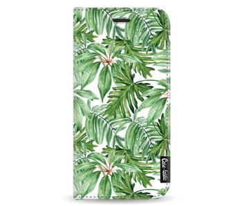 Transparent Leaves - Wallet Case White Apple iPhone X