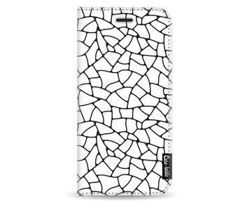 Transparent Mosaic - Wallet Case White Apple iPhone X