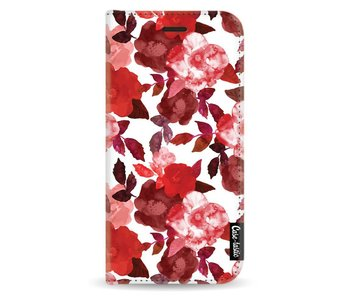 Royal Flowers Red - Wallet Case White Apple iPhone X