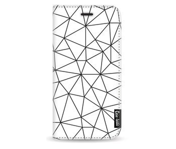 So Many Lines! Black - Wallet Case White Apple iPhone X