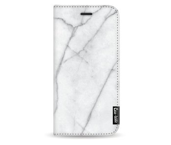 White Marble - Wallet Case White Apple iPhone X