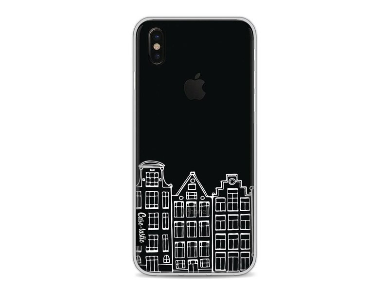 Casetastic Softcover Apple iPhone X - Amsterdam Canal Houses White