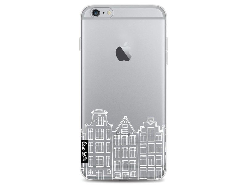Casetastic Softcover Apple iPhone 6 Plus / 6s Plus - Amsterdam Canal Houses White