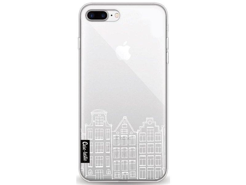 Casetastic Softcover Apple iPhone 8 Plus - Amsterdam Canal Houses White