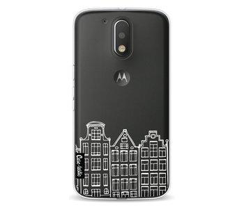 Amsterdam Canal Houses White - Motorola Moto G4 / G4 Plus