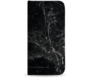 Black Marble - Wallet Case Black Apple iPhone 8 Plus